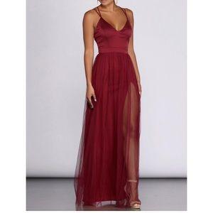 Burgundy Windsor dress!